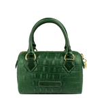 Mb Suzie Women s Handbag, Baby Croco Melbourne Ranch,  emerald green