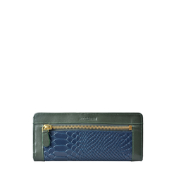 Libra W1 Sb (Rf) Women's Wallet, Melbourne Ranch Snake,  emerald
