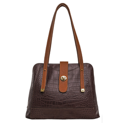EE ATRIA 01 WOMEN'S HANDBAG CROCO,  brown