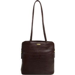 Kirsty Handbag, croco,  brown