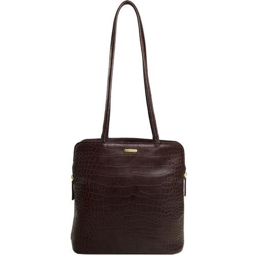 Kirsty Handbag, croco,  midnight blue