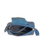 Sb Lyra Women s Handbag, Croco Ranchero,  blue