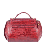 ALIVE 01 WOMEN S HANDBAG CROCO,  red