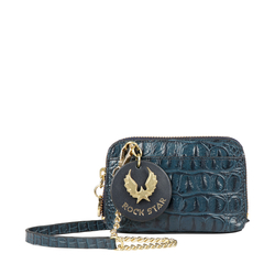 PUNK W2 WOMENS WALLET BABY CROCO,  midnight blue