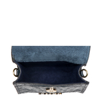 PUNK W1 WOMENS WALLET BABY CROCO,  midnight blue