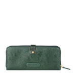 Hong Kong W2 Sb (Rfid) Women s Wallet, Lizard Melbourne Ranch,  emerald green