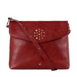 HIDESIGN X KALKI WITCH 01 SLING BAG IDAHO SPLIT,  marsala
