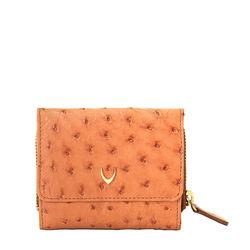 Volga (Rfid) Women's Wallet, Ostrich,  tan