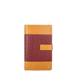 Marty W3 (Rfid) Women's Wallet, Woven Melbourne,  red