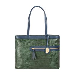 Tokyo 02 Sb Women's Handbag Croco,  emerald green
