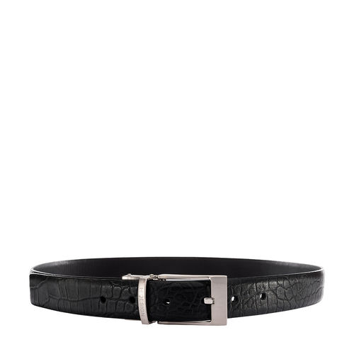 Alex Men s belt, 40 42, croco,  black