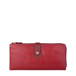 HONGKONG W3 SB (RFID) WOMENS WALLET CROCO,  red