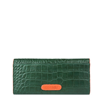 Ee Harper W1 Women s Wallet Croco,  emerald green