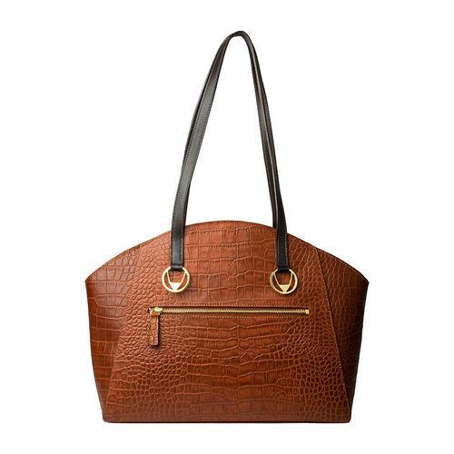 Bonnie 01 Handbag, croco,  emerald