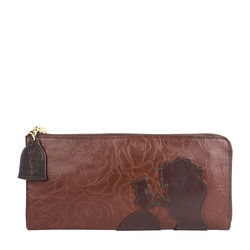 Rose W3 Women's wallet, Rose Emboss Mel Ranch,  brown