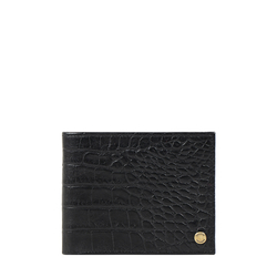 Sirius W1 Sb (Rfid) Men's Wallet Croco,  black