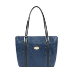 FUSCHIA 01 SB WOMENS HANDBAG FLOWER EMBOSSED,  midnight blue