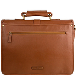 Castello Briefcase, ranchero,  tan