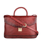 Epocca 02 Women s Handbag, Croco Melbourne Ranch,  red
