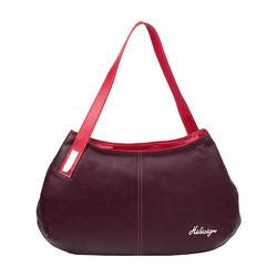 Opal 01 Women's Handbag, Cowdeer Ranch,  aubergine