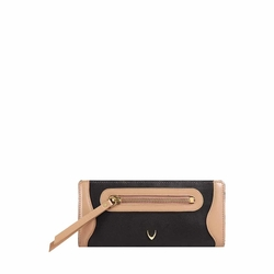HIDESIGN X KALKI BOSS W2(RFID) WOMEN'S WALLET WAXED SPLIT,  black
