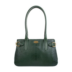 Shanghai 02 Sb Women's Handbag, Snake Melbourne Ranch,  emerald green