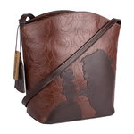Rose 03 Women s Handbag, Rose Emboss Mel Ranch Split,  brown