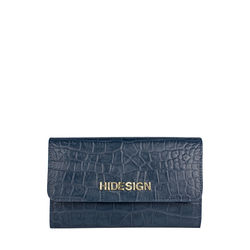 CARLY W1 (RFID) -BABY CROCO-MIDNIGHT BLUE,  blue