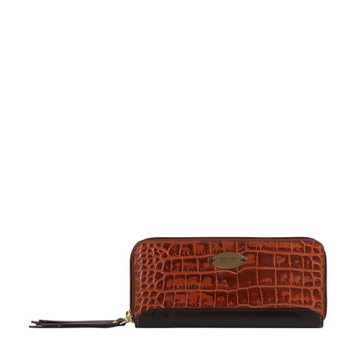 Spruce W2 Sb (Rfid) Women s Wallet Croco,  tan