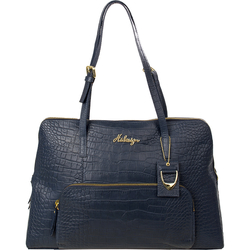 109 02 Women's Handbag, Croco,  blue