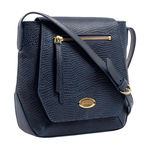 Taurus 01 Women s Handbag, Lizard Melbourne Ranch,  midnight blue
