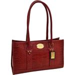 Logo Women s Handbag Croco,  red