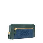 EE LIBRA W2(RFID) WOMENS WALLET SNAKE,  midnight blue