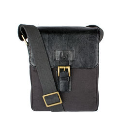 Bedouin 03 Men's Cross Body, Canvas E. I Goat,  black