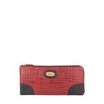 Saturn W3 Sb (Rfid) Women s Wallet, Croco Melbourne Ranch,  red