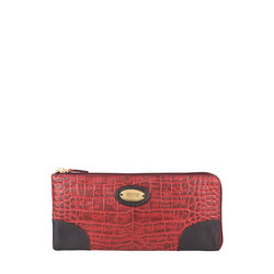 Saturn W3 Sb (Rfid) Women's Wallet, Croco Melbourne Ranch,  red