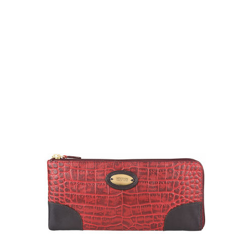 Saturn W3 Sb (Rfid) Women s Wallet, Croco Melbourne Ranch,  red