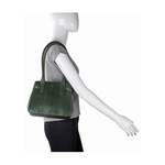 Shanghai 03 Sb Women s Handbag, Snake Melbourne Ranch,  emerald green