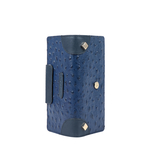 VOODOO W1 RF WOMENS WALLET OSTRICH EMBOSSED,  midnight blue