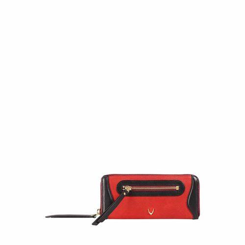 HIDESIGN X KALKI BOSS W1(RFID) WOMEN S WALLET WAXED SPLIT,  red