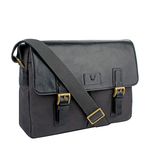Bedouin 02 Men s Messenger Bag, Canvas E. I Goat,  black