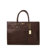 Kester Women s Handbag, Croco,  brown