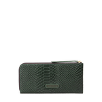 Gemini W1 Sb(Rfid) Women s Wallet, Snake Melbourne Ranch,  emerald green