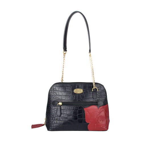 Fifi 02 Women s Handbag, Croco Mel Ranch Split,  black