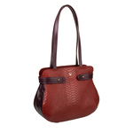 Brigitte 01 Handbag,  red, snake