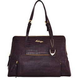 109 02 Handbag, croco,  brown
