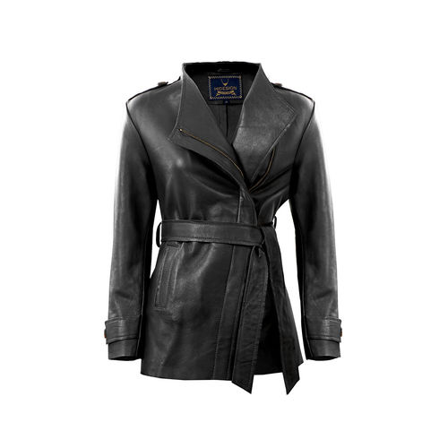 Bianca Women s Jacket Polished Lamb,  black, m
