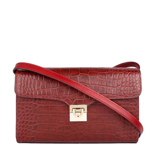 Stampa 02 Women s Handbag, Croco Melbourne Ranch,  red