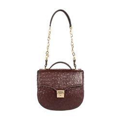 Sb Elsa Women's Handbag Ostrich,  brown
