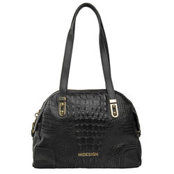 Harajuku 02 Handbag, baby croco,  black